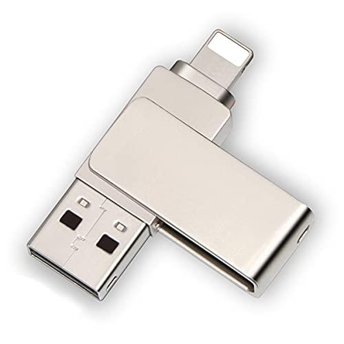 Unidad flash USB para iPhone, almacenamiento externo compatible con iPhone, Photostick USB 3.0 almacenamiento externo, Memory Stick para iPad/PC (256 GB)
