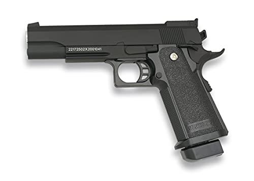 Tiendas LGP, Albainox 38341 Arma Airsoft, Pistola Aire Suave, Potencia 0,8 Julios, Munición Bolas PVC 6 mm.