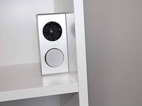 Energiestation Kombi-Box 230V mit Schalter und Steckdose / 4188 / Steckdose für Spiegelschrank Möbelbeleuchtung
