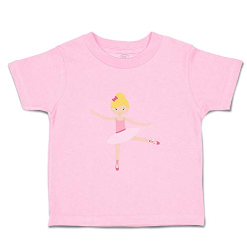 Custom Baby & Toddler T-Shirt Ballerina Dance 1 Bun Pink Bow Blonde Cotton Boy & Girl Clothes Funny Graphic Tee Soft Pink Design Only 18 Months