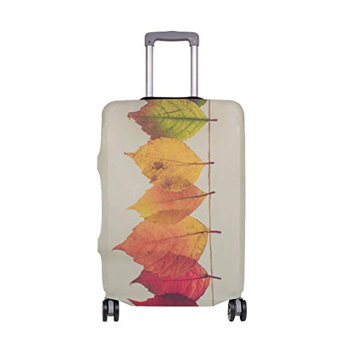 IUBBKI Travel Luggage Cover Color Leaves Line Suitcase Protector FitSch Washable Baggage Covers