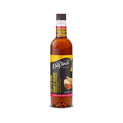 DaVinci Gourmet Classic Butter Rum Syrup, 25.4 Ounce , 25.4 Fl Ounce (Pack of 4)