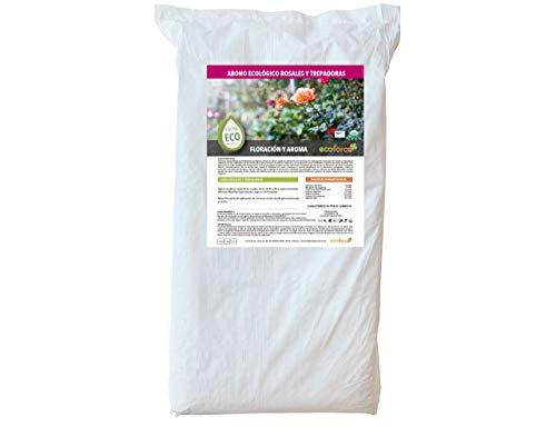 CULTIVERS Abono Especial Rosales y Trepadoras de 25 kg. Fertilizante ecológico Potencia la Floración y Aroma de Las Flores. Origen 100% orgánico y Vegano