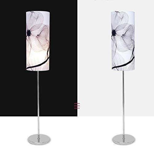 Allamp Led Nuevo chino Lámpara de piso, lámpara de cabecera del dormitorio Sala de estar Estudio creativo retro luz de la lámpara moderna simple vertical, E27 Eye-Cuidado Vertical luz del piso Para ap