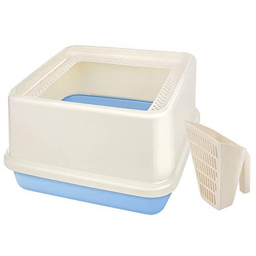 Toilette per animali domestici Sistema di lettiera for gatti quadrati Sistema di inserimento for vaschetta for vaschetta for vaschetta for animali domestici ideale for gatti Vassoio per WC in plastica