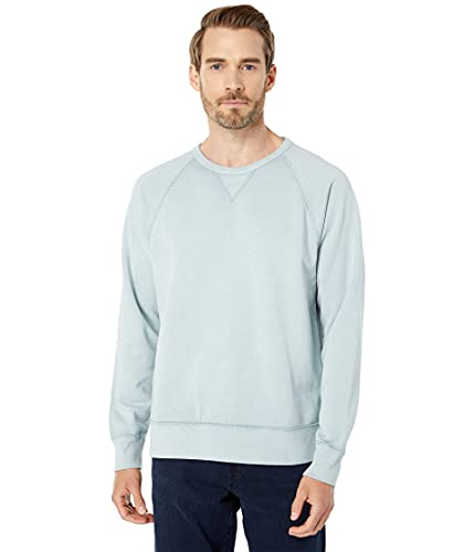 Madewell Garment-Dyed Crew Neck Sweatshirt Glassware Blue LG