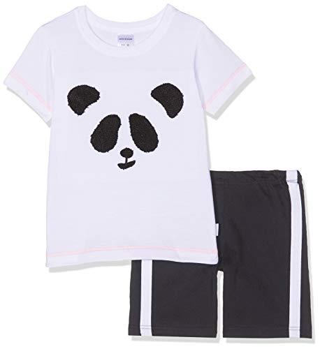 Schiesser Jungen Relax Anzug kurz Zweiteiliger Schlafanzug, Weiß (Weiß 100), (Herstellergröße: 128)