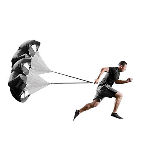 APXZC 60 Inch Speed Training Weerstand Parachute Doek Stof/Weefsel, Ingebouwde Mesh Panelen, Veiligheid Duurzame slijtvastheid, Voor Voetbal Basketbal Hardlopen Fitness