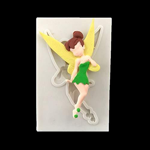 Laxtto Fondant Schokolade Silikonform 3D Engel Mädchen Blumenfee für Kuchen Dekorationswerkzeuge Kerze Küche Backzubehör