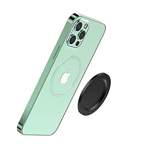 TechMatte iPhone 12 MagSafe対応スマホリン アルミニウム磁気吸盤【スマホリングとMagSafe充電 POP Grip スマホリングホルダー併用互換でき】Magsafeマグネットプレート, iPhone 12/12 Pro / 12 Pro Max / 12Mini互換でき 強力磁力 安定感抜群スマホリングホルダーのユーザー必須のMagSafeアクセサリー