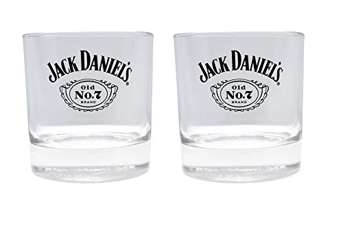 Jack Daniel's Tennessee Old No 7 Whiskey Tumbler Glasses (Set of 2)