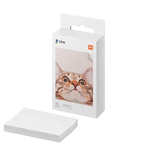 for Xiaomi Pocket Print Paste Paper, 20 sheets 5 x 7.6 cm ZINK Print Paste Paper for Xiaomi Pocket Portable Instant Photo Printer
