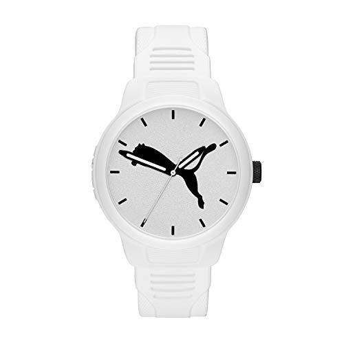 PUMA Men Reset V2 Polyurethane Watch, Color: White (Model: P5012)