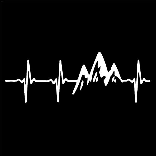 Reflektierender Autoaufkleber mit Climbing Mountain EKG-Styling Warnung Sicherheit Wasserdicht Hitzebeständig Leicht zu zerreißen Nicht verletztes Auto