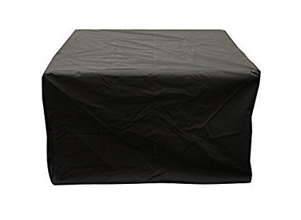 Broilmann 32 inch Square Fire Pit Cover, Waterproof 600D Heavy Duty Square Fire Pit Table Cover, Fit for 28/30/31/32 Inch Fire Pit/Table