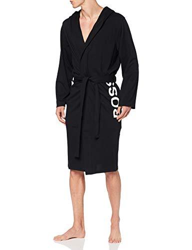 BOSS Identity Hooded Gown Bata, black1, L para Hombre
