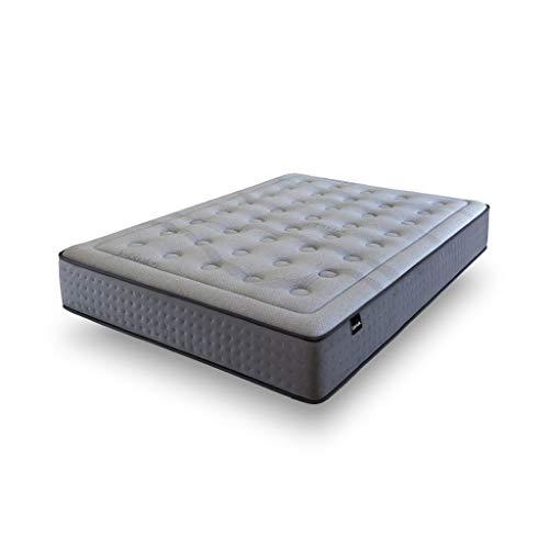 Tanuk ViscoGrafeno Platinum Muelles 150X190 Tamaño Queen (1,60) Colchón de muelles - Colchones (300 mm, 1500 mm, 1900 mm, Tamaño Queen (1,60), Colchón de muelles, Gris)