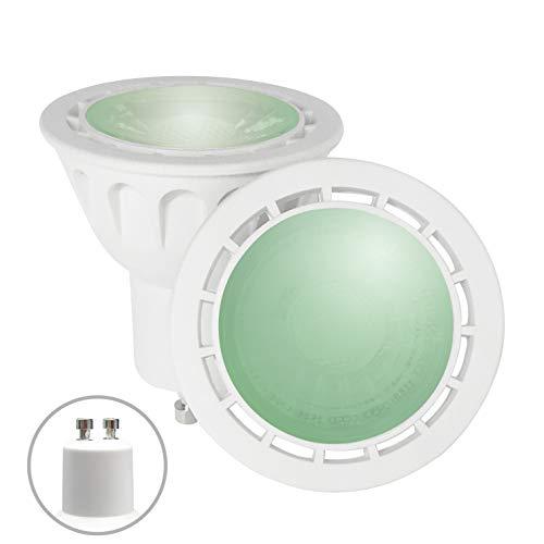 YAYZA! 1er-Pack Premium MR16 GU10 6W Netz AC LED-Punktstrahler COB Glühbirne 60 Grad breiter Lichtstrahl Lampe Farbe Grün
