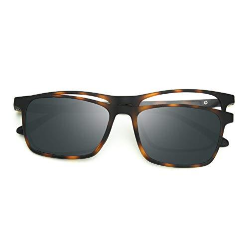 ZENOTTIC Magnético Polarizadas Clip en Gafas de Sol TR90 Marco Lentes Intercambiables Hombre Mujer Gafas Protección UV