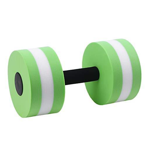 VORCOOL Deportes Ejercicio acuático Mancuernas Fitness Barbell Ejercicio Barras de Mano para aeróbicos acuáticos (Verde)