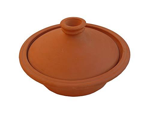 Marokkanische Tajine Topf zum Kochen unglasiert Ø 28 cm für 2-3 Personen tief - 905793-0001