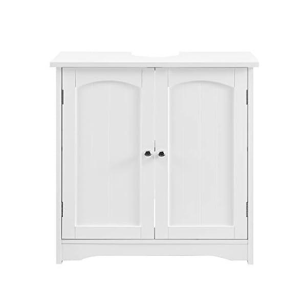 [en.casa] Mueble para Debajo de Lavabo – 60x60x30cm – Blanco