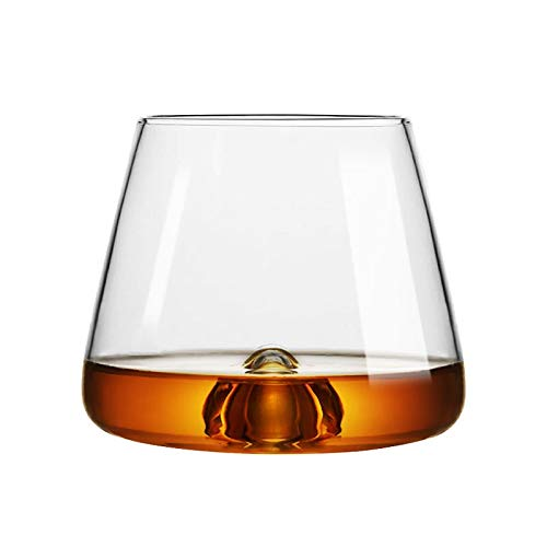 HLIANG Copas De Vino Diseño Cubos de Hielo de la Roca del Whisky de Cristal Vaso de coñac Chivas Red Copas de Vino Copa de Whisky 050 (Capacity : 350ml, Color : Rock Glass)