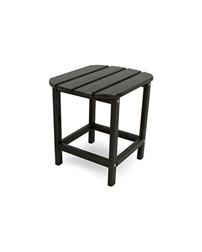 CASA BRUNO South Beach table d'appoint 48x38cm , polyéthylène PEHD, noir - résistance inconditionnelle aux intempéries