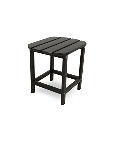 POLYWOOD SBT18BL South Beach 18' Outdoor Side Table, Black