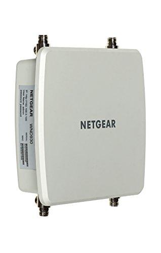 Netgear WND930-10000S N600 Access Point a 4 Antenne Direzionali, 2 da 2.4GHz e 2 da 5GHz, Bianco
