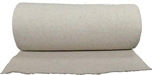 Nadelfilz aus 100 % Schafschurwolle 250g/m², 1,00 m breit 2,50 m lang, ca. 2,5 mm dick, 2,5 m², (EUR 6,74/m²), Naturfaser, 100 % biologisch abbaubar, waschbar, Öko-Tex Standard 100, Produktklasse 1