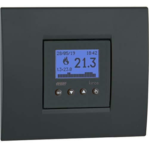 VEMER Kiros VE780000 - Cronotermostato semanal empotrable de tamaño Compacto, alimentación 230 V. Color Blanco o Gris Antracita