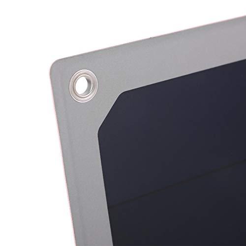 Fishawk Cargador, Cargador Solar de Silicona, Panel Solar, para Carga de teléfono Lámpara de Carga Hogar al Aire Libre