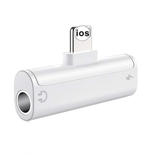 Kopfhörer Adapter für iPhone 7 Adapter 3,5 mm AUX Audio für iPhone X/XS/XR/8/8Plus/7/7Plus unterstützt Kopfhörer Dongle Kopfhörer Kabel Splitter Audio Jack Earbud Adapter für iOS 10.3 oder höher