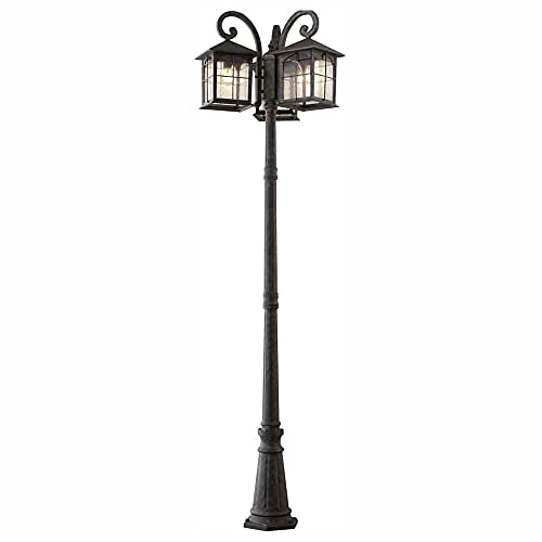 Home Decorators Collection Brimfield 3-Head Aged Iron Outdoor Post Light