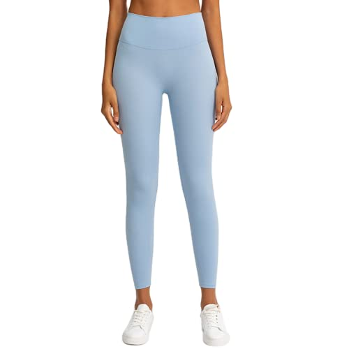 Pantalones de Yoga de Cintura Alta para Mujer de Gimnasio Anti-Sentadillas Pantalones elásticos de Secado rápido Pantalones para Correr al Aire Libre CL