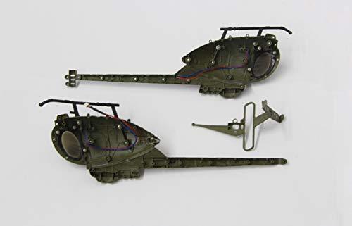 Jamara - 037097 - Modélisme - Verrière Gauche/Droite Military Spy Copter 500 Military