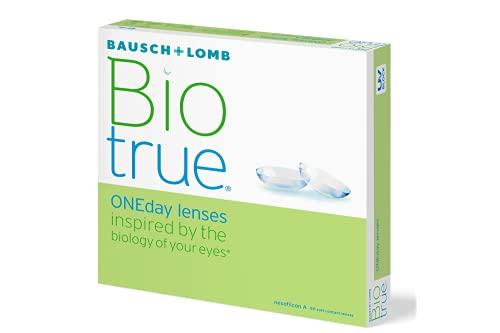 Bausch und Lomb Biotrue ONEday Tageslinsen, sphärische Kontaktlinsen, weich, 90 Stück / BC 8.6 mm / DIA 14.2 mm / -1.25 Dioptrien