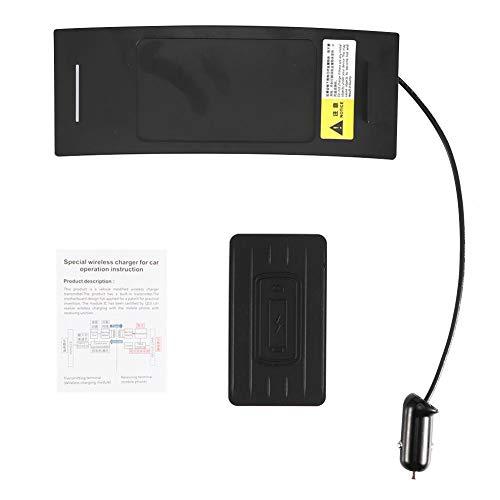 Draadloze autolader, 15W auto snelle draadloze oplader telefoon houder auto opladen Mount snel opladen plaat inductie past voor A6 C7 2012-2018