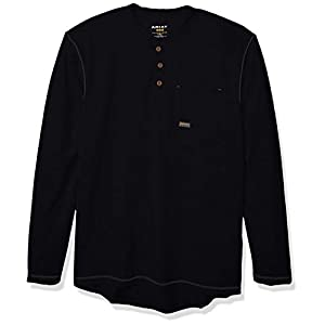 Men's Rebar Pocket Long Sleeve Henley Shirt