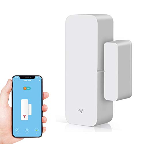 CYCON Sensor de Ventana de Puerta Inteligente, Conexión Inalámbrica, Alarma Magnética Antirrobo, Detección de Puerta Abierta o Cerrada, Funciona con Alexa Google Home