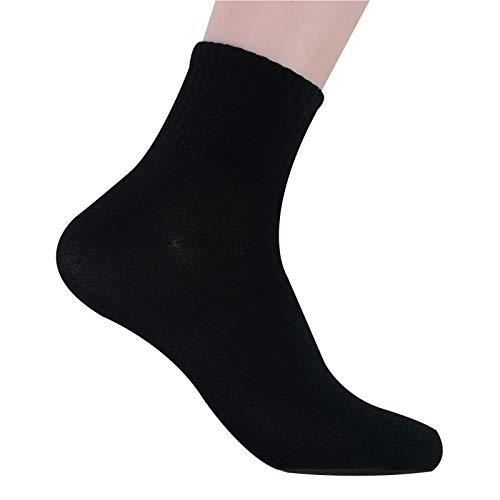 U/A 10 paires de chaussettes mi-longues pour hommes sont respirantes, absorbent la transpiration et épaisses pour les sports de loisirs