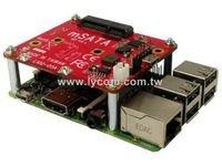 Lycom Raspberry Pi mSATA SSD USB Adapter Board Pi-102