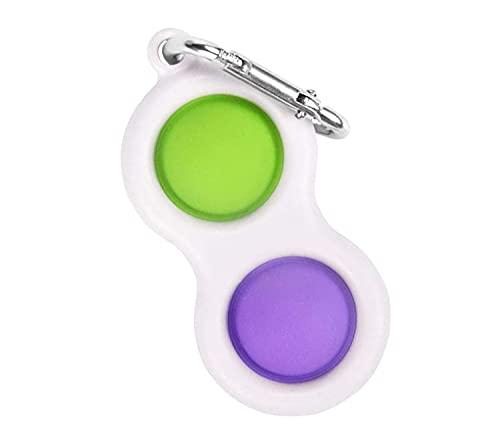 langjiao Simple Dimple Fidget Toy Anti Stress pour Enfants Et Adultes Jouet Mini Bicolore avec Porte-clés, Relief Anxiety Fidget Spinner Toys 1 Piè,pour la Le Bureau Enfants Adultes Relax (BB)