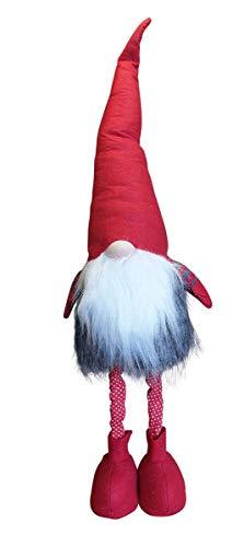 Fachhandel Plus Wichtel mit ausziehbare Teleskop-Beine Weihnachten Deko-Figur Zwerg Zipfelmütze