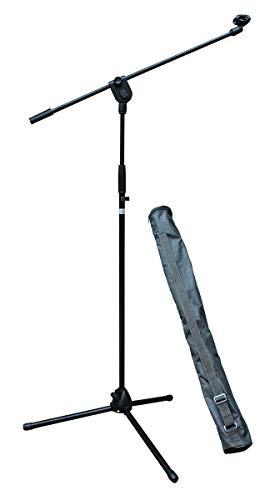 E-Lektron EMS01 Mikrofonständer Mikrofon Stativ mit Galgen/Mikrofonklemme/Tasche