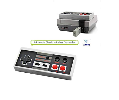 Wireless Controller for Nintendo NES Classic Mini Edition .NES Classic Wireless Controller, Built-in Rechargeable Battery Plug and Play, Nes Classic Controller, Black