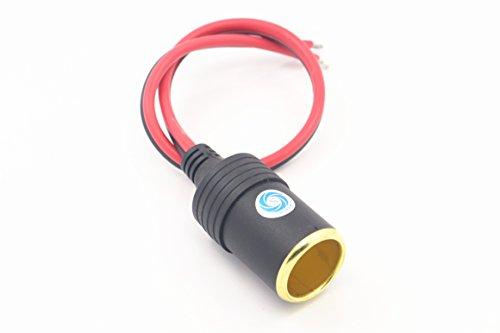 SMAKN 12V 30A Female Car Cigar Cigarette Lighter Socket Plug Connector Adapter