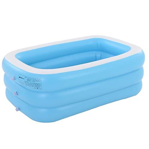 YJX Thickened Swimming Pool Adult Household Folding Bath Tub Inflatable Bathtub Couple Large Children Bathing Bucket Paddling Pool (Size : F)