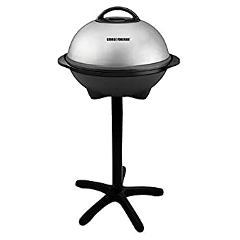 George Foreman Silver 12+ Servings Upto 15 Indoor/Outdoor Electric Grill GGR50B REGULAR
